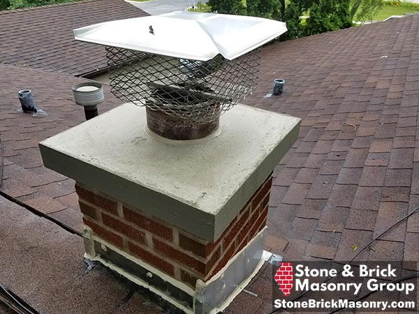 rebuilt chimney crown